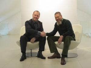 Алексей Липаткин и Игорь Гришин после заседания Русской школы Го и Стратегии